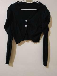Black Cardigan pendek