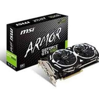 MSI GTX 1060 Armour 6GB (no box)