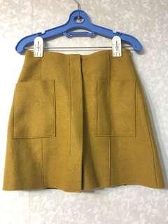 正韓 Dobe韓國連線 秋冬棕色短裙