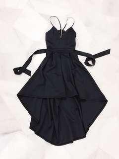 Black Lace BareBack Dress