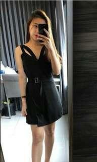 Black Elegant Romper Dress