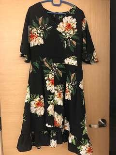 Plus size floral romper dress