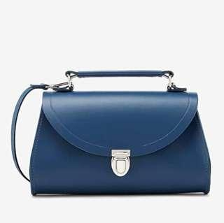 🚚 BNIP Limited Edition Brand New The Cambridge Satchel Company Mini Poppy Full Leather Bag in Peacock Blue (Vintage Classic Crossbody Slingbag Handbag Hand Dinner Casual Formal Party Trapeze Doctor's Doctor)