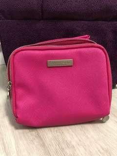 Crabtree & Evelyn Hot pink toiletries pouch