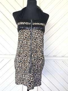 Imported Leopard Print Party Dress