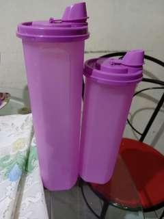 Tupperware tempat minyak ungu