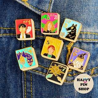 🚚 [AVAIL] Harry Potter book enamel pins - full series