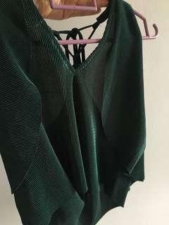 Forever 21 Emerald Green Off Shoulder Top