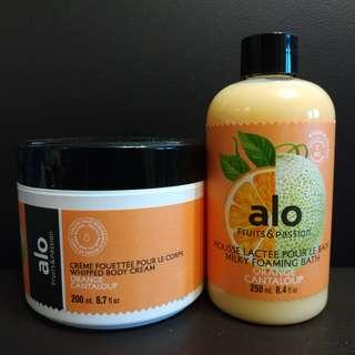 alo fruits & passion body cream shower gel Orange Cantaloup 沐浴露 潤膚膏