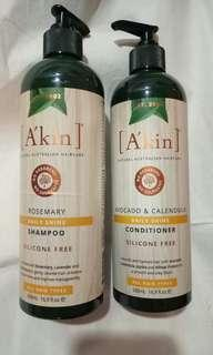 🚚 A'kin Shampoo and conditioner 500mls
