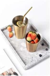 Rose gold or gold Stainless steel cup