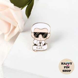 [OTW] Karl Lagerfeld Enamel Pin (Famous People series)