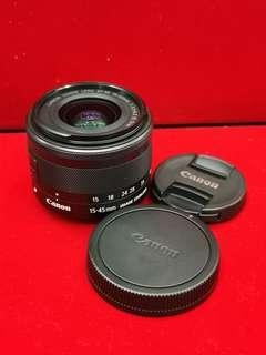Canon EF-m 15-45mm (water stain)