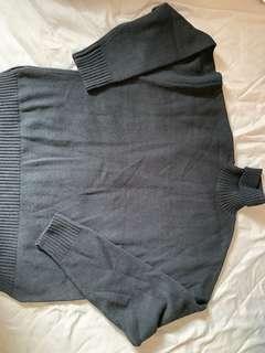 韓系 高領毛衣 黑色 超保暖 落肩款式 可議價