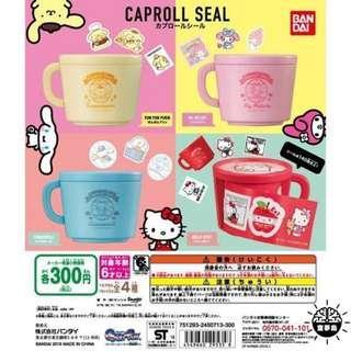 (可交換)Sanrio扭蛋 貼紙 咖啡杯melody hello kitty