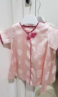 Dress pink cantik imlek cheongsam size fit to newborn baby sampai 2 tahun