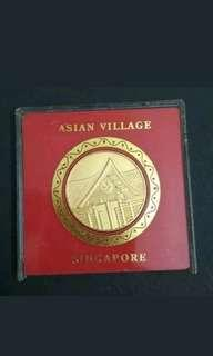 Singapore asean village medal medallion