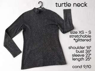 Turtleneck Turtle Neck Top Baju Murah