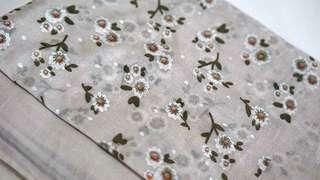 Kerudung cantik! Light Brown Floral Scarf