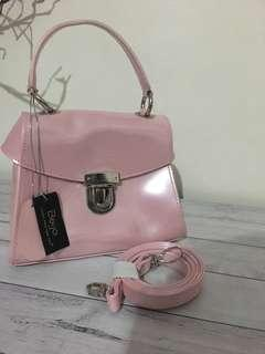 Beijo pink patent leather bag BNWT