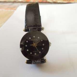 Regal Quartz Small Round Black Dial Watch