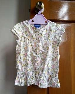 (5T) Genuine Kids Floral Top