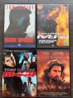 DVD - Tom Cruise : Mission Impossible I, II, III & The Last Samurai