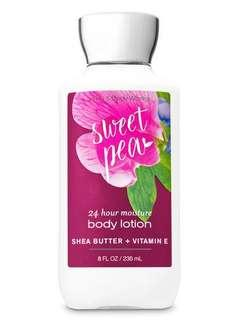 🚚 Bath & Body Works Body Lotion- Sweet Pea