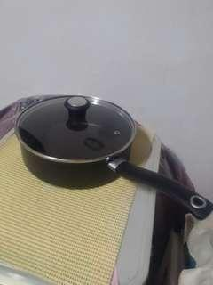 Tefal Made in 法国 France cooking sauce pan with glass lid