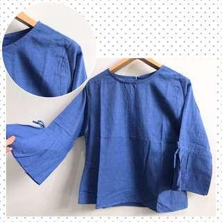 Katun Denim Blouse Top Blue Jeans