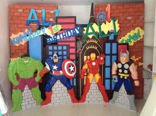 PARTY BACKDROPS FOR SALE-Rush!!! Price Negotiable