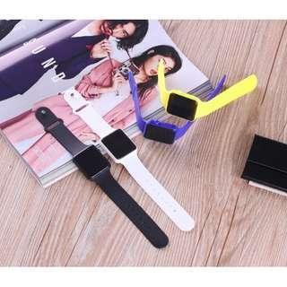 Jam Tangan Fashion LED Strap Rubber