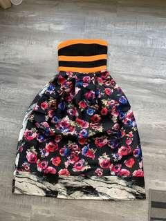 🚚 MDS Floral Bustier Dress
