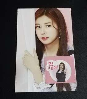 IZONE Hyewon GMARKET Postcard and Sticker