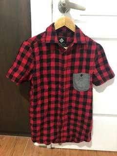 Cotton On Red Checkered Polo