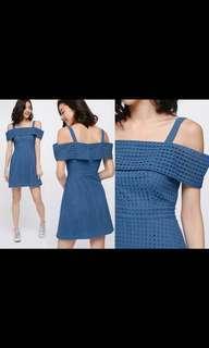 Love Bonito Qanly Eyelet Off Shoulder Dress