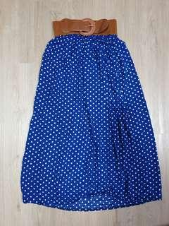 🚚 Polka Dot Blue Skirt