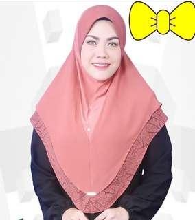 Jilbab Instan Malaysia, warna hijau lumut