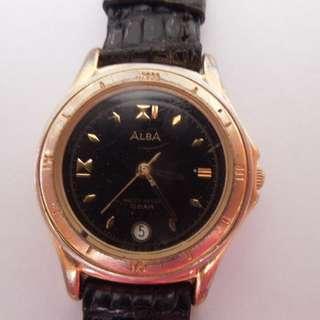 Alba Quartz Small Round Dial Watch