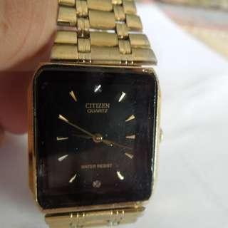 Citizen Quartz Black Rectangular Dial Watch