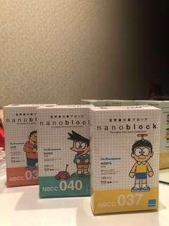 RARE Nano Block Doraemon Characters
