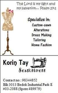 Custom-made/Tailoring and Alterations