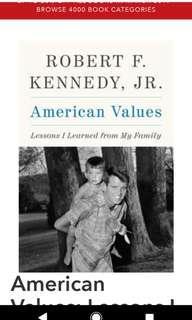 New Hardback book: American values