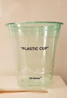 Off-White plastic cup