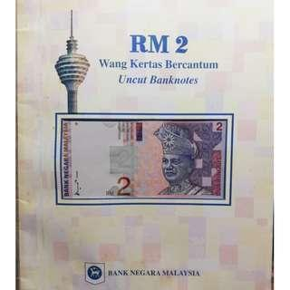 Old RM 2 Uncut Notes with cover, very good condition
