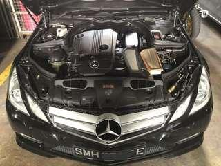 Mercedes E Class installed with Hurricane Air Filter