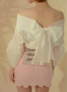 🚚 Po: ribbon off shoulder top
