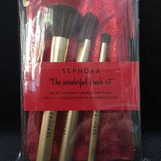 Sephora - the wonderful brush set (brand new)