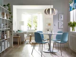Ikea Leifarne 淺藍色餐椅~$100/張