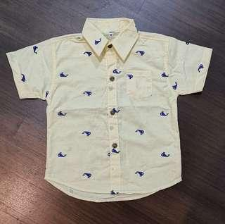 🚚 Boys/Toddler Shirt Yellow Whale